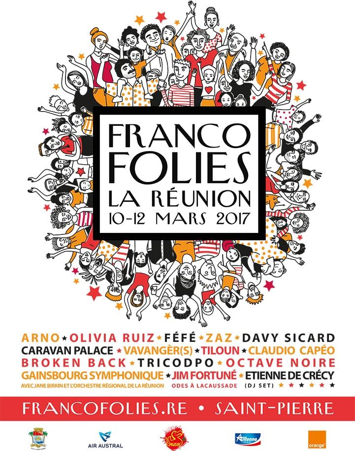 Affiche Francos de La Réunion 2017